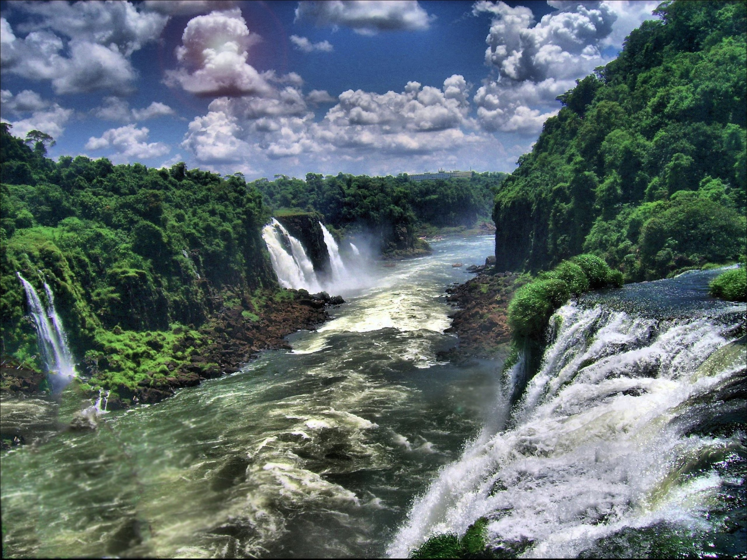 Fall Leve Wallpapers Cloud Sky Pantanal Brazil Waterfall Iguazu Falls River