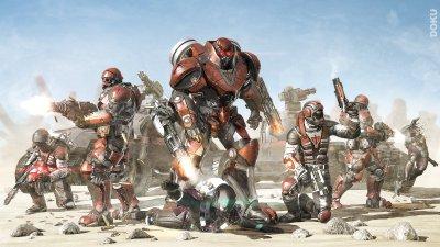 PLANETSIDE 2 sci-fi shooter futuristic sci-fi action warrior armor wallpaper | 3840x2160 ...