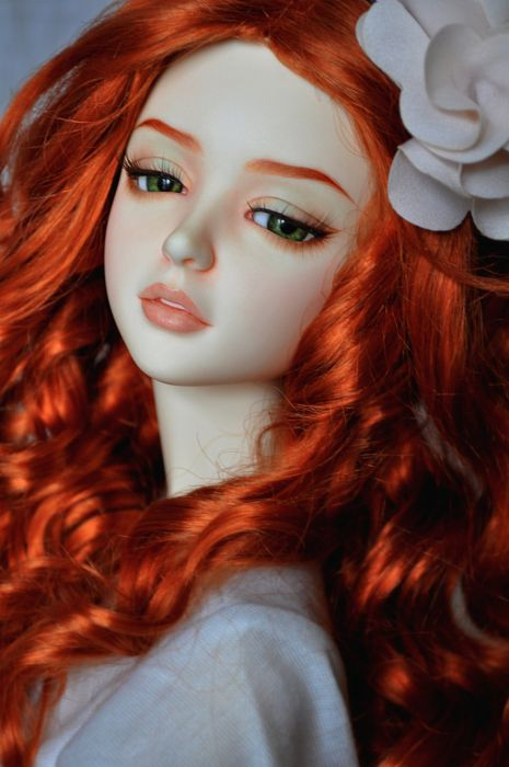 Wallpaper Of Cute Barbie Girl Toys Doll Baby Long Hair Girl Beautiful Red Hair Green