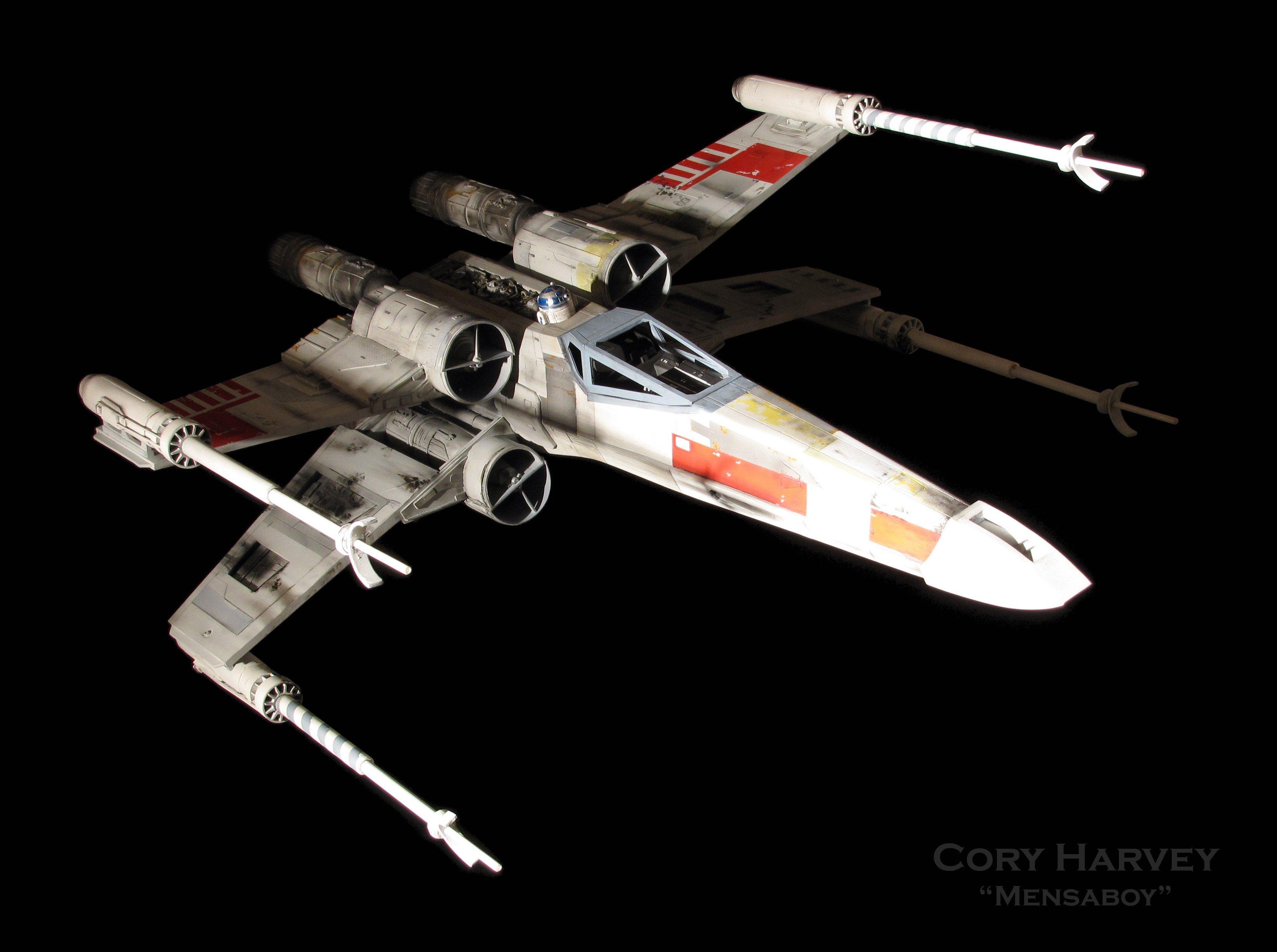 3d Wallpaper Red Blue Star Trek Star Wars X Wing Spaceship Futuristic Space Sci Fi Xwing