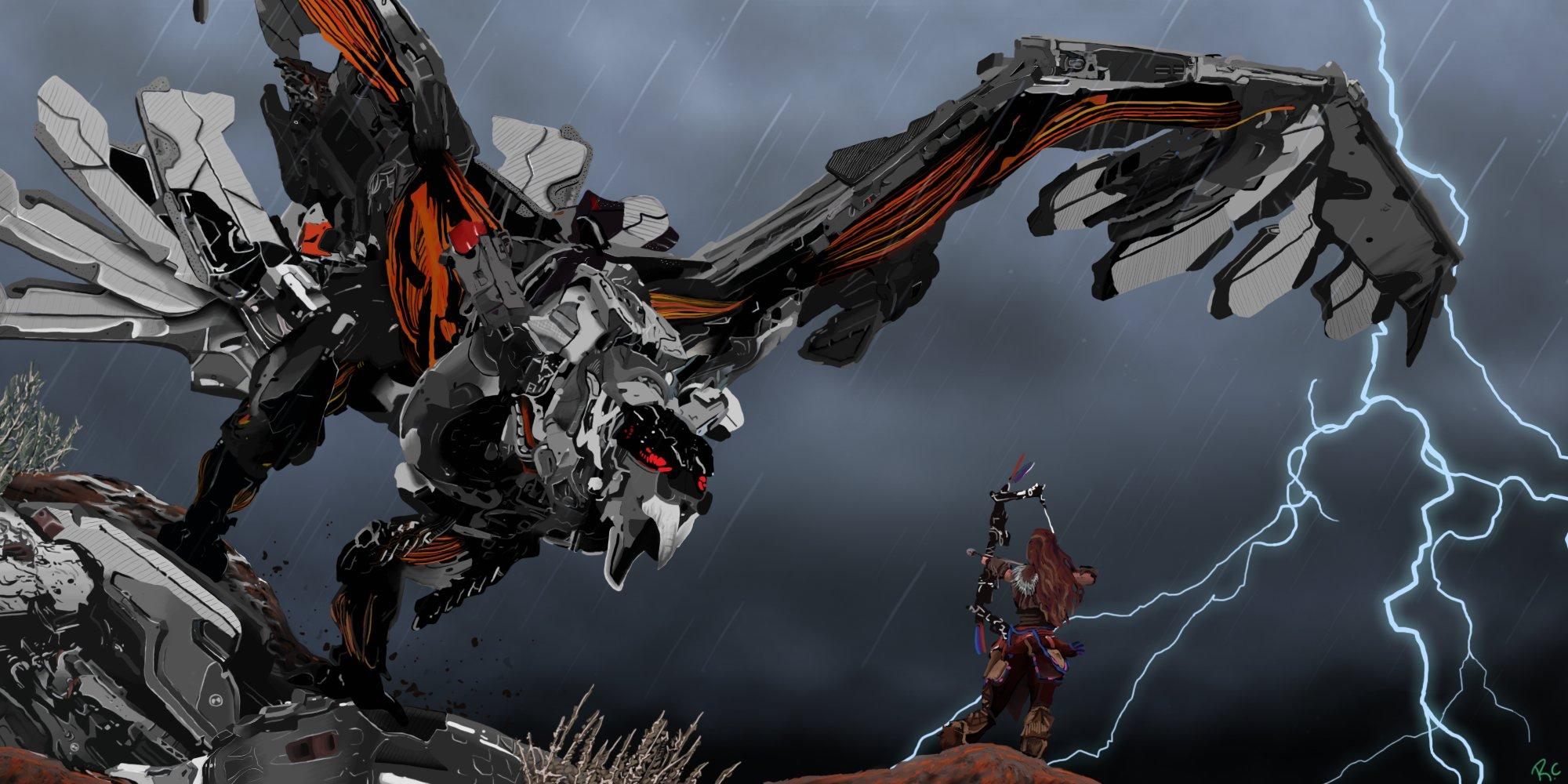 Fall Of Cybertron Wallpaper Hd Horizon Zero Dawn Sci Fi Robot Futuristic 1hzd Archer