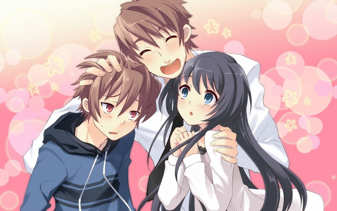Cute Couple Fighting Wallpaper Anime Girl Friends Group Cute Boys Wallpaper 1920x1200