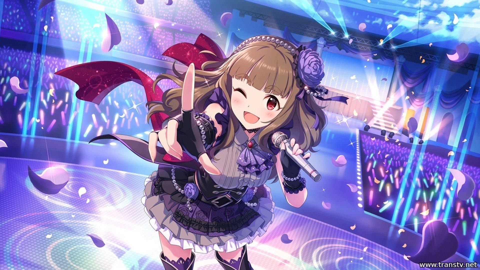 Cute Small Girl Wallpapers For Facebook Anime Girl Singer Cute Dress Wallpaper 1920x1080