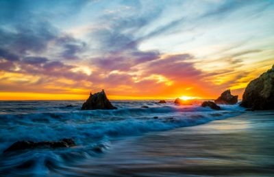 USA Coast Sunrises and sunsets Waves Sky Crag Malibu Nature wallpaper | 7796x5056 | 919761 ...