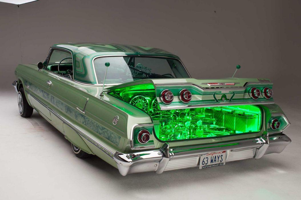 Red Car Wallpaper Download 1963 Chevrolet Impala Custom Tuning Hot Rods Rod Gangsta