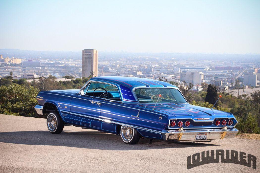 Gangsta Girls And Lowriders Wallpaper 1963 Chevrolet Impala Custom Tuning Hot Rods Rod Gangsta