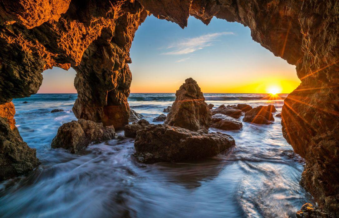 Assassins Creed Wallpaper Hd 1080p Ocean Sunrises And Sunsets Usa Malibu Crag Nature