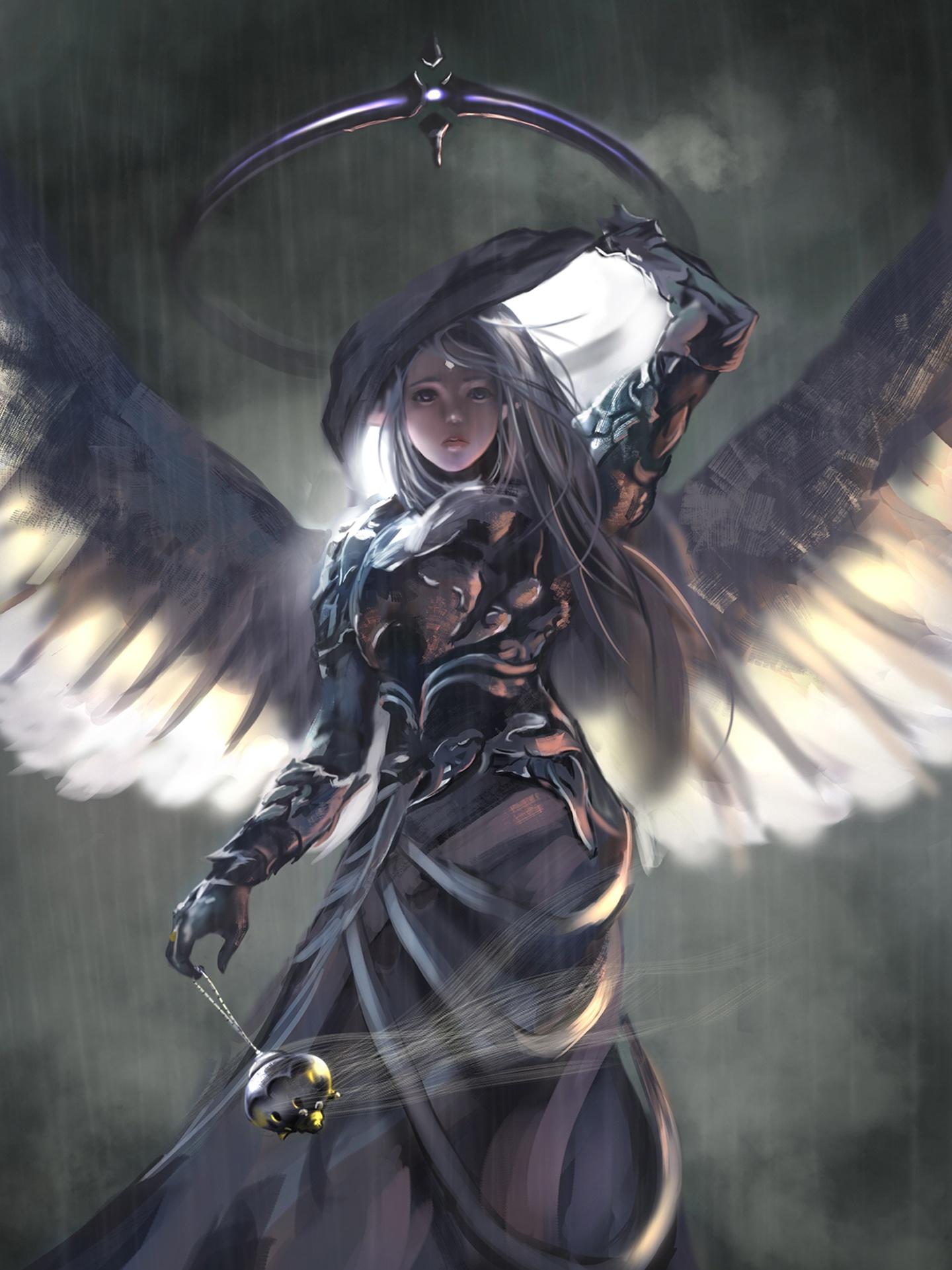 Image Of Beautiful Girl Wallpaper Wings Angel Wlop Oiginal Girl Woman Beautiful Fantasy Art