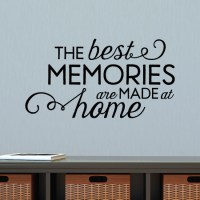 Best Memories Made At Home Wall Quotes Decal | WallQuotes.com