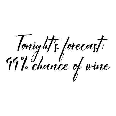 Chance of Wine Wall Quotes™ Decal WallQuotes