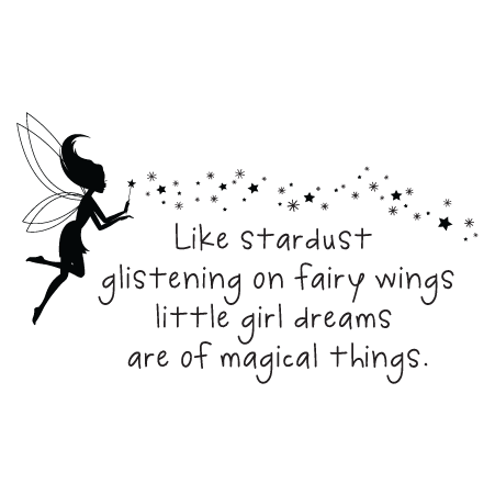 Cute Sisters Love Wallpapers Little Girl Dreams Stardust Wall Quotes Decal