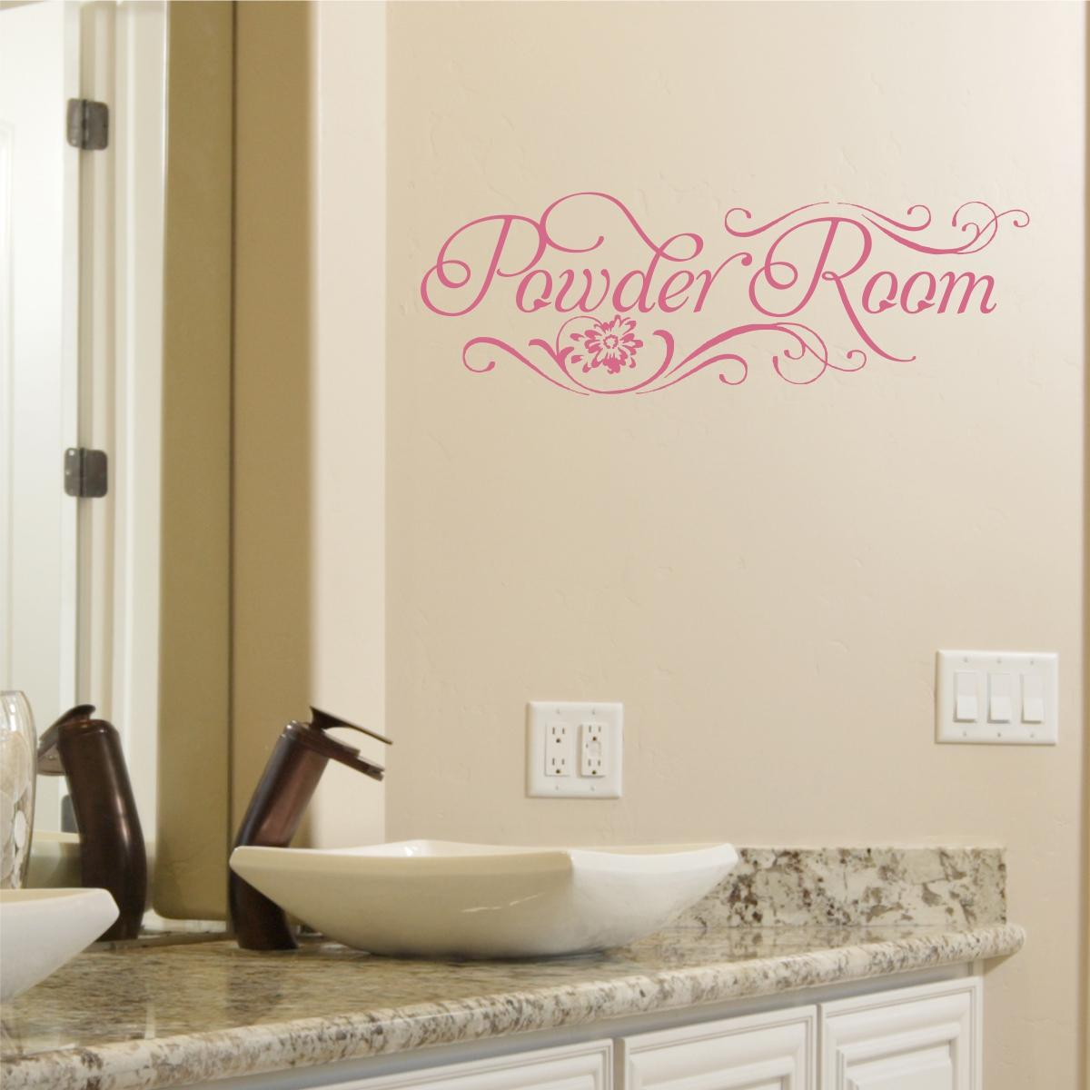 Fall Themed Wallpaper Powder Room Wall Quotes Decal Wallquotes Com