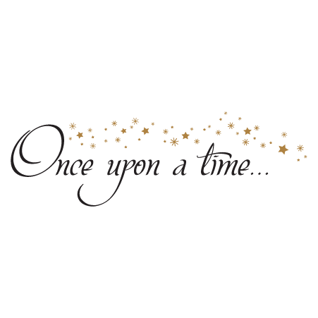 Book Quotes Wallpaper Cursive Once Upon A Time Stars Wall Quotes Decal Wallquotes Com