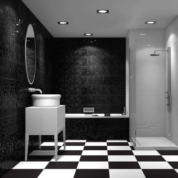 Black And White Wallpaper Designs Bathroom Ideas For 2016 Walls And Floors