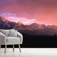 Chugach Mountains At Sunset Wall Mural & Chugach Mountains ...