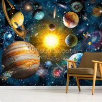 Our Solar System Wall Mural & Our Solar System Wallpaper ...