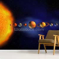 Solar System Wallpaper Mural | Wallsauce UK