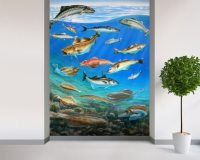 Sea Fish Wall Mural & Sea Fish Wallpaper | Wallsauce USA