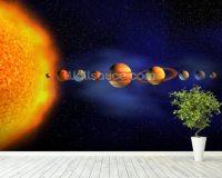 Solar System Wallpaper Wall Mural | Wallsauce UK