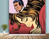 Pop Art Dream Romance Wallpaper Wall Mural | Wallsauce UK