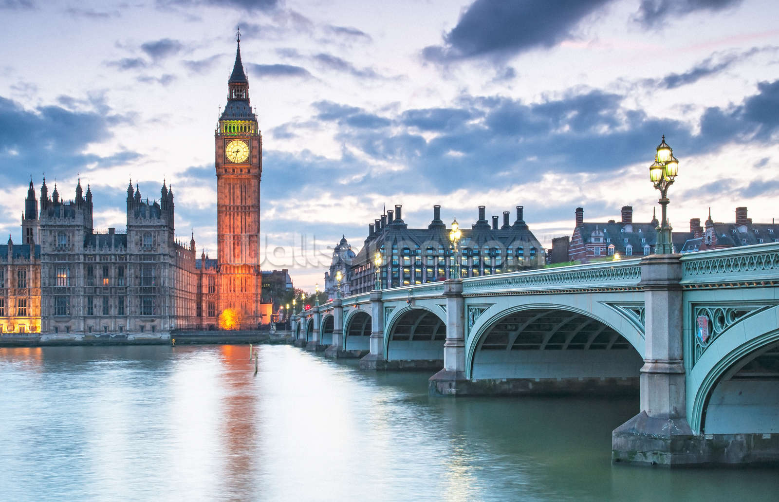 Large Hd Wallpapers For Laptop London Westminster At Dusk Wallpaper Mural Wallsauce Usa