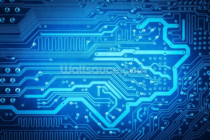 Circuit board background Wallsauce US