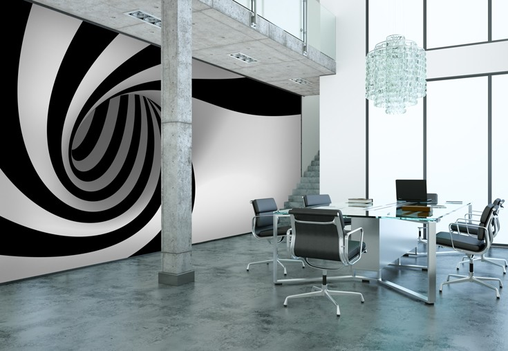 Black And White Wallpaper Living Room Mind Blowing Optical Illusion Decorations Amp Wallpaper