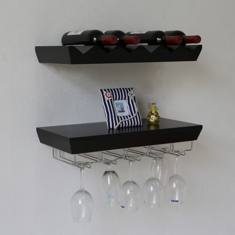 Naiture 22 L x 11 W inch Wall Mounted Wine Rack Bottle and