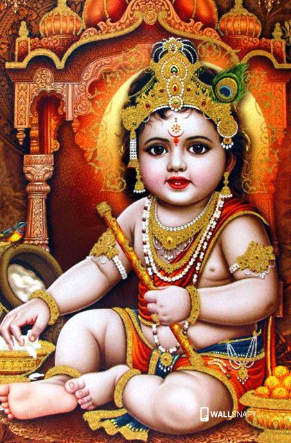 God Mahalakshmi Hd Wallpapers Android Lord Bala Kannan Hd Wallpaper Primium Mobile