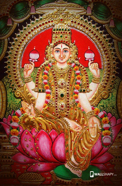 Cute Pink Wallpaper For Mobile Hindu God Mahalakshmi Hd Wallpaper God Mahalakshmi