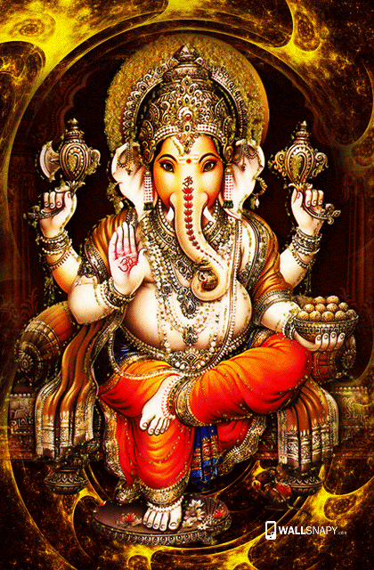 Cute Painting Hd Wallpapers Lord Ganesh Grand Look Hd Wallpaper Primium Mobile