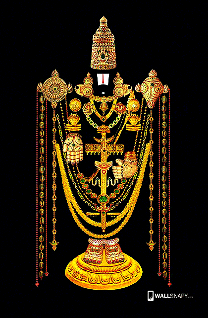 God Mahalakshmi Hd Wallpapers Tirupati Balaji Gold Jewels Hd Wallpaper For Mobile