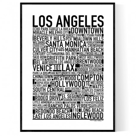 Los Angeles Poster Find your posters at Wallstars Online Shop today!