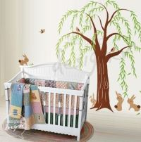 Springtime Willow Tree Wall Sticker Mural