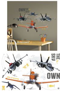 Disney Planes Own the Sky Giant Wall Decals