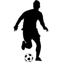 Wallstickers folies : Soccer Player Wall Stickers
