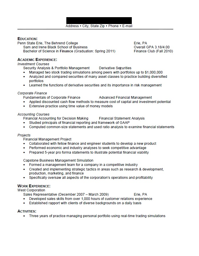 stock broker resume
