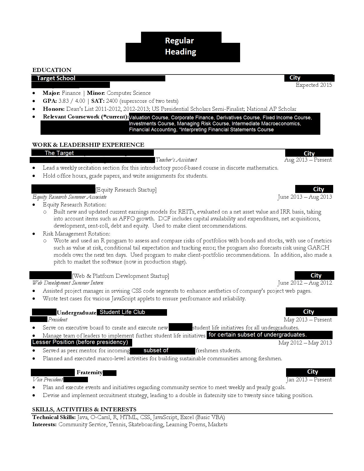Fixed Income Trader Resume Sample - Contegri.com