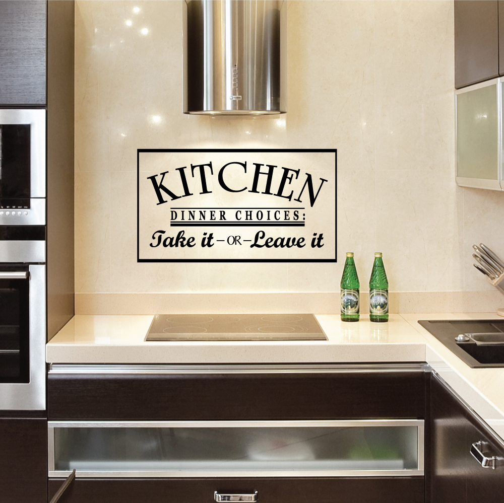 Wall stickers for kitchen kitchen dinner choices take it or leave it wall art decal