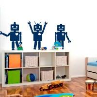 Robot Trio Wall Decal