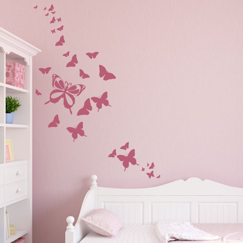 Medium Crop Of Butterfly Wall Decals