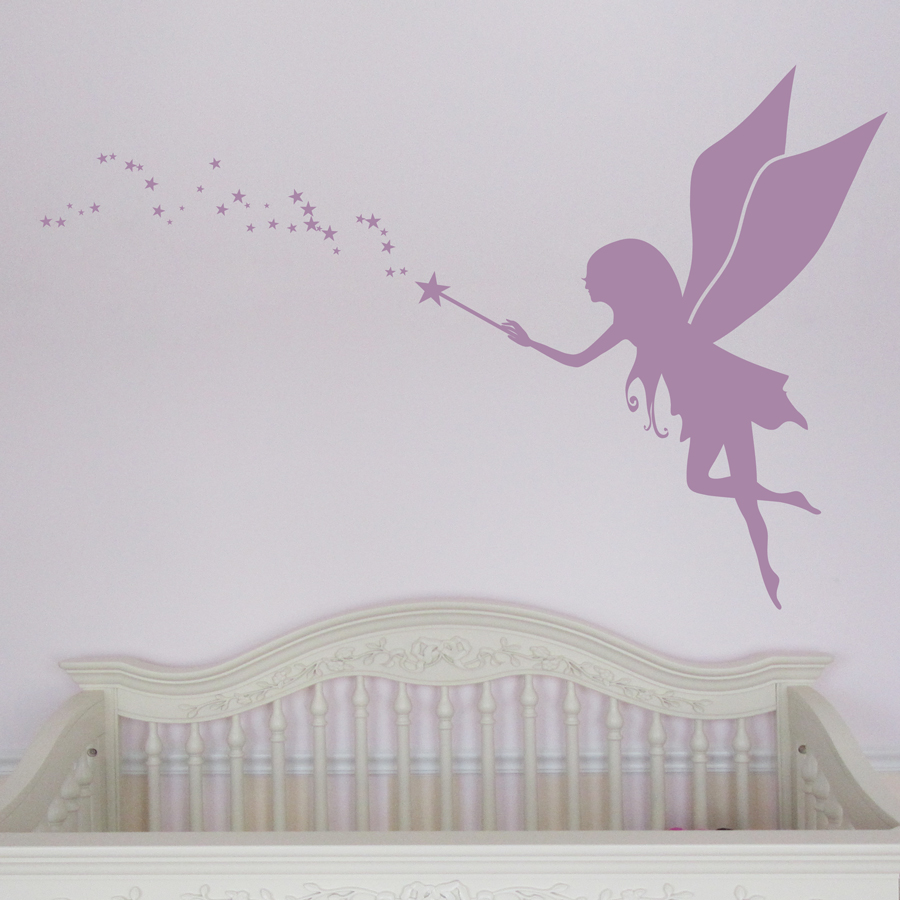 Baby Girl Nursery Removable Wallpaper Fairy Decals For Walls Fairy Dandelion Wand Wall Decal