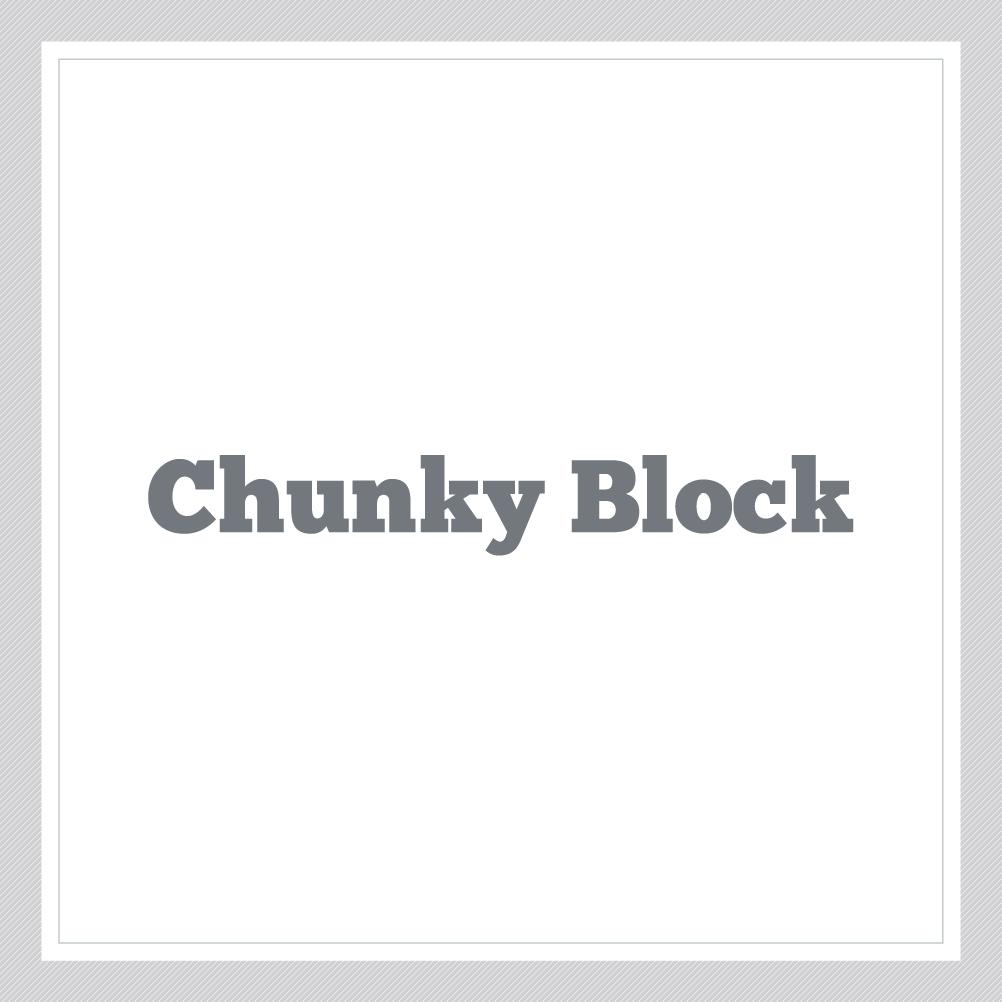 Chunky Block Custom Text Wall Decal