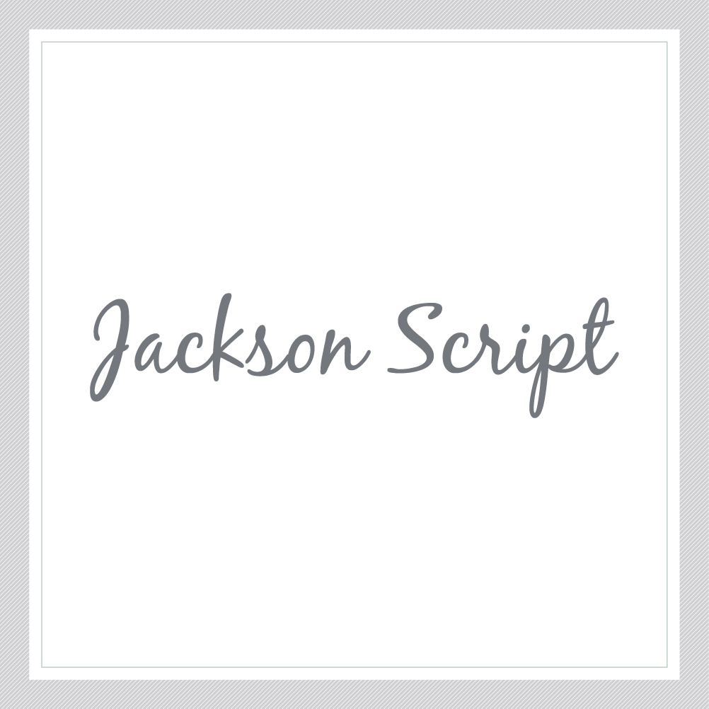 Jackson Script Custom Text Wall Decal