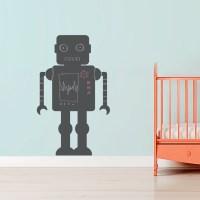 Chalkboard Robot Wall Decal