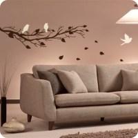 Three Birds on a Branch Wall Art & Decal