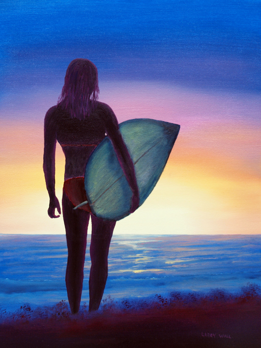Wallpaper Hd Surfer Girl Surfer Girl Original Oil 18 Quot X 24 Quot Paintings By Larry