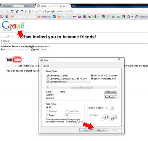 How can I print emails without gmail logo? (Chrome) WWWalter
