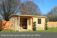 How to turn your shed into an office   Waltons Blog ...