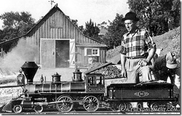 Walt Disney's Barn, Lilly Belle engine and Walt Disney - www.WaltsApartment.com